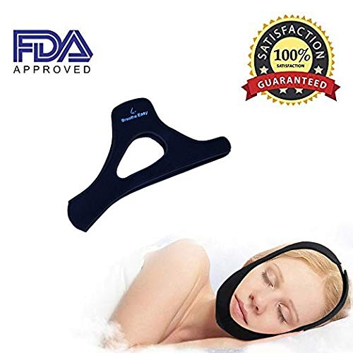 Anti Snore Chin Strap from Breathe Easy, Comfy & Padded Fit, Strong Straps for Sleep Issues, Dry Mouth, Snoring Boost Sleep