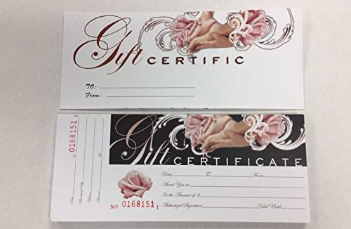 Gift Certificate - for SPA, Nail Salon, Massage Store and Other Places