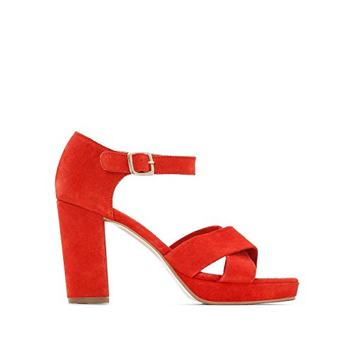 La Collections with Leather Womens Redoute Brick Crossover Straps Sandals rzqprO