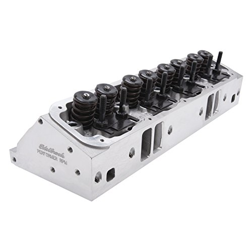 (Edelbrock 61775 Performer Series RPM Cylinder Head Complete 176cc/75cc Port Vol. 350-500HP Standard Exh. Port 58cc Chamber Vol. 2.09 in. Intake/1.60 in. Exhaust Valves Single Performer Series RPM Cylinder Head)