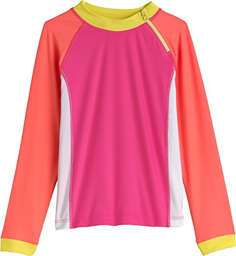 Coolibar Girls Zippy Rash Guard product image