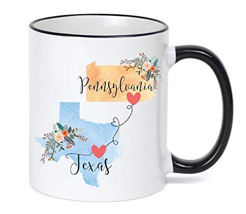 - Texas to Pennsylvania Mug/Texas Pennsylvania Gift/Pennsylvania To Texas Gift