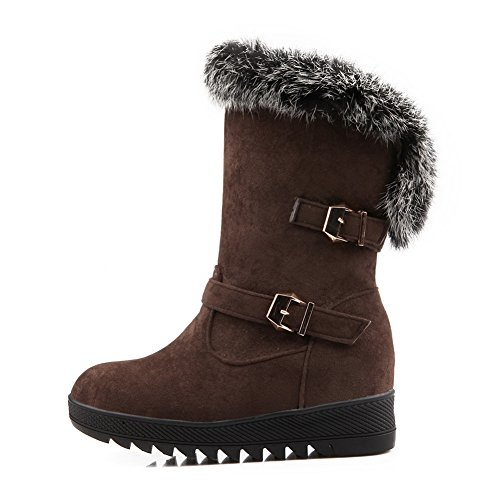 Girls Buckle AdeeSu Weather Boots Brown Frosted Cold Solid vzfqfWPFdw