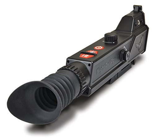 Night Owl Optics NightShot Digital Night Vision Riflescope with IR illuminator, Black, NIGHTSHOT