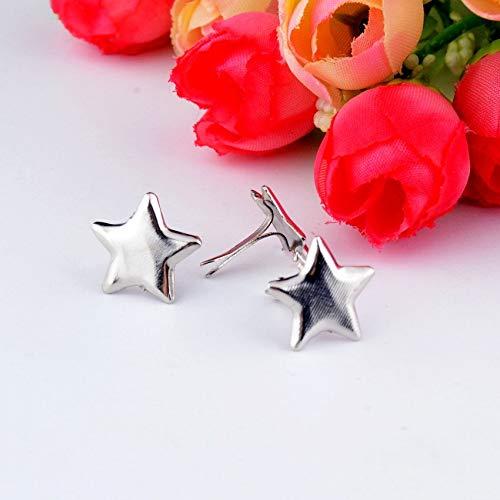 Garment Rivet - -50PCs Silver Tone Pastel Star Brads Scrapbooking Embellishment Holiday Decoration & Gift 13.5x13.5mm F0737