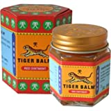 Tiger Balm Red Extra strength Herbal Rub Muscles Headache Pain Relief Ointment Big Jar, 30g...