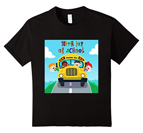 Kids Happy 100th Day Of School T-Shirt Costume 6 Black (School Teacher Costume)