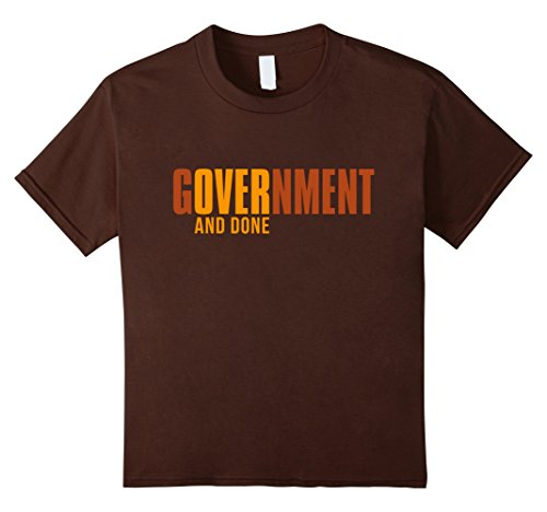 Kids Scariest Halloween T-Shirt Government Over And Done 8 Brown