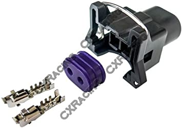 CX Fuel Injector Connector Wiring Plug Terminal for Bosch EV1 Female LS1 LSx 2pc