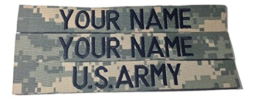 - 3 piece ACU Name Tape & US Army Tape, Sew-On (without Fastener)