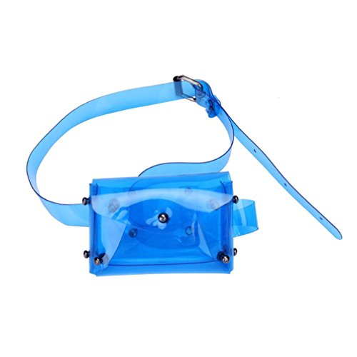 petto carino Fcostume Crossbody donna borsa impermeabile borse spiaggia da moda trasparente Blue gnq4Y
