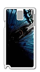 Hard Skin Case Cover Shell case for samsung galaxy note3 for men - Big Butterfly blue fluorescence