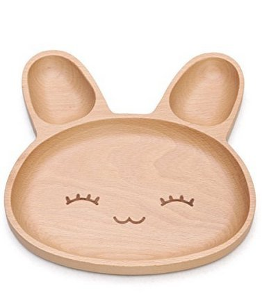 Natural Bamboo Baby Feeding Set 3pcs Includes Plate, Spoon and Fork,BPA Free Infant and Kid Friendly - 7.8'' (1) by Wendy Wu (Image #2)