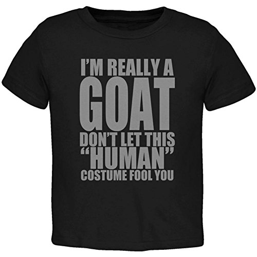 Animal World Halloween Human Goat Costume Toddler T Shirt Black Toddler Size 5/6