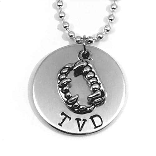Amazon.com: The Vampire Diaries Hand Stamped TVD with Fang ...