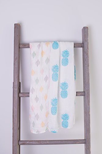 Softest bamboo muslin swaddle blankets product image