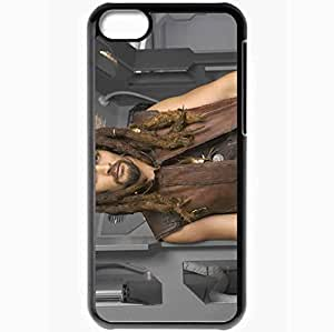Personalized iPhone 5C Cell phone Case/Cover Skin Ason Momoa Actor Beard Mustache Dreadlocks Sports Black