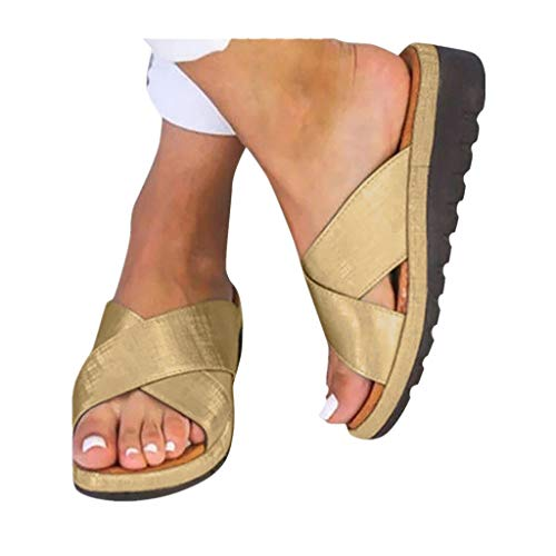 2019 New Women Comfy Platform Toe Ring Wedge Sandals Shoes Summer Beach Travel Shoes Comfortable Flip Flop Shoes