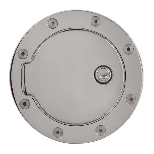 Bully GD-303CKP Chrome Plated Billet Aluminum Fuel Door with (Chrome Billet Aluminum Fuel Door)