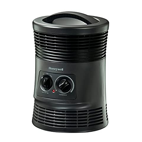 Honeywell 360 Degree Surround Fan Forced Heater with Surround Heat Output, Charcoal Grey (Space Heater Office)