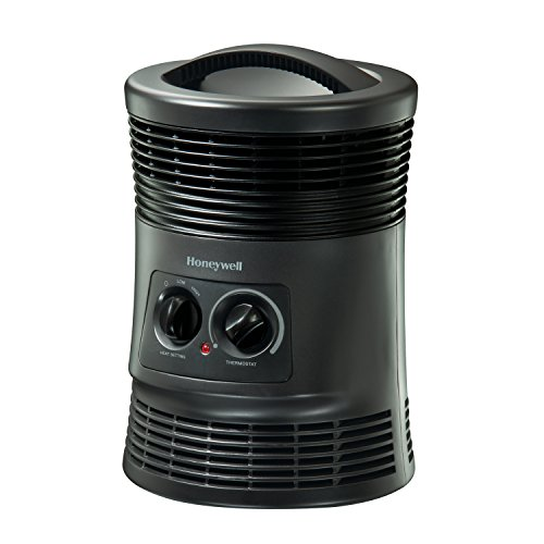 Honeywell HHF360V 360 Degree Surround Fan Forced Heater with Surround Heat Output, Charcoal (Electric Fan Forced Heater)