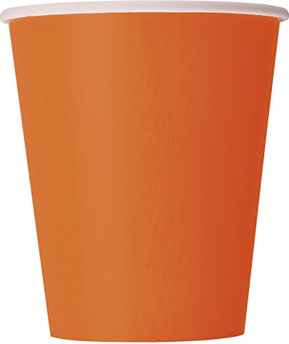 9oz Orange Paper Cups, 14ct (Dollar Tree Halloween Costumes)