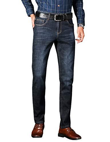 Uomo Gambe Foderato Blu Cukke Dritte 808 Jeans In Pile zqxdHOa