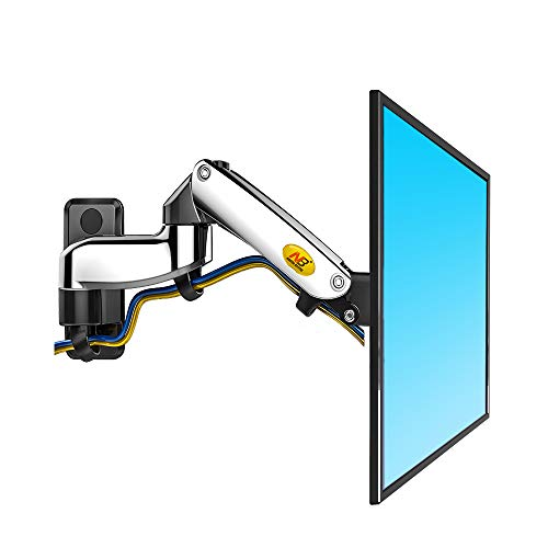 Price comparison product image North Bayou TV Monitor Wall Mount Bracket Full Motion Articulating Swivel for 17-27 Inch Display Monitor with Gas Spring (Chrome-Plating Double Extension)