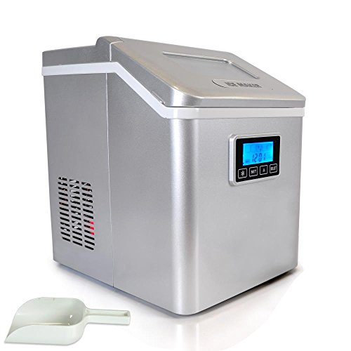 NutriChef Digital Ice Maker, Ice Tray Full Indicator, Water Reservoir Capacity: 2.5L White (PICEM70)