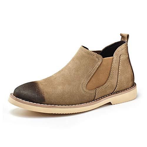 Chelsea Cachi Work Casual Stivali amp;Baby EU Ancient Durevole Nero da Sunny Color Restoring Classic British uomo 38 Mid top Ways Shoes Dimensione qpE4B1Oy
