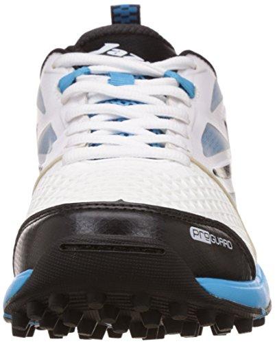 Jazba Mens Skydrive 110 Pu Mesh Kpu Cricket Schoenen Wit / Zwart / Cyaan Blue
