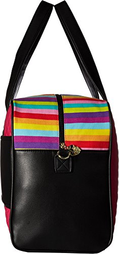 Luv Betsey Women's Cruzin Cotton Weekender w/A Luggage Pass Through On The Back Multi Faux/Green One Size by Luv Betsey (Image #2)