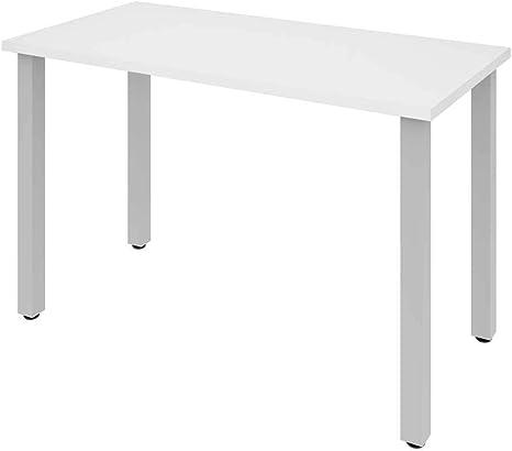Mesa escritorio con patas de metal cuadrado 47,6 cm W: Amazon.es ...