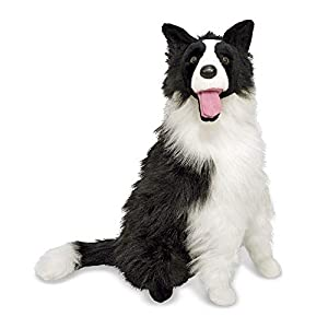 "Melissa & Doug Border Collie Dog Giant Stuffed Animal (Lifelike Plush, 27"" H x 22"" W x 14"" L, Great Gift for Girls and Boys - Best for 3, 4, 5 Year Olds and Up) 1"