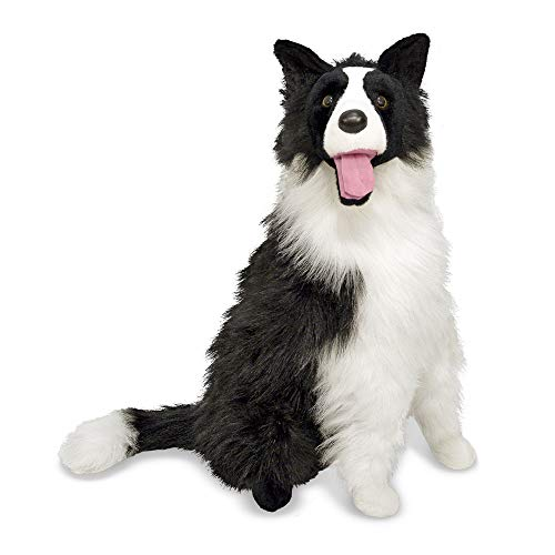 Melissa & Doug Giant Border Collie - Lifelike Stuffed Animal Dog (over 2 feet tall) ()