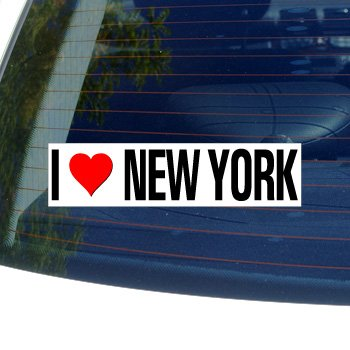 Graphics and More I Love Heart New York - Window Bumper -