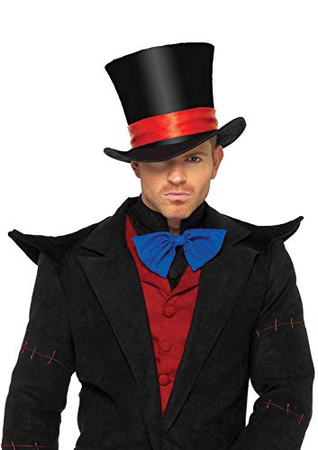 Leg Avenue Deluxe Men's Velvet top hat, Black, One Size (Leg Avenue Hat)