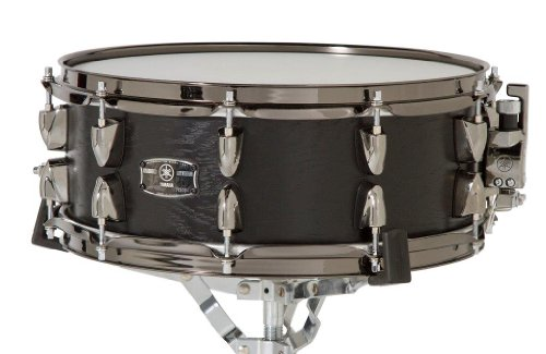 Yamaha LNS-1455BKW 14-Inch Live Custom Snare Drum, Black Wood (Oak Yamaha Custom)