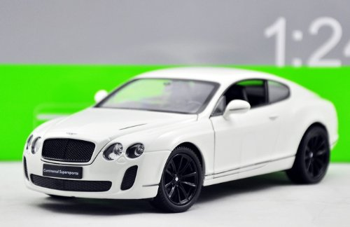 Welly 1/24 Bentley Continental Supersports Diecast Mode Car NEW in BOX White