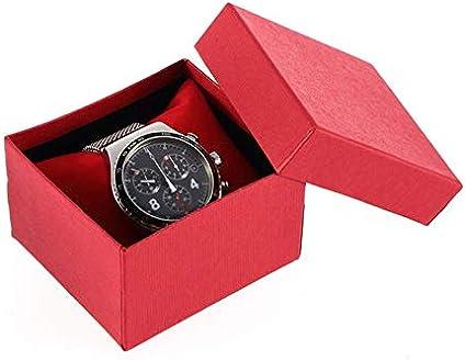 GW Caja de Reloj roja Caja de cartón de Regalo Caja de Regalo Rectangular Relojes de Cuarzo Caja de Embalaje Caja de joyería, B: Amazon.es: Deportes y aire libre