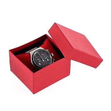 GW Caja de Reloj roja Caja de cartón de Regalo Caja de ...