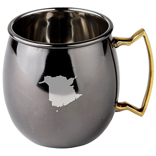 New Brunswick Stainless Steel Moscow Mule Mugs With Black Mirror Finish - Copper Plated Cocktail Mug - 16 Oz Moscow Mule Mug Gift Brunswick Mirror