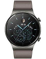 """HUAWEI WATCH GT 2 Pro Smartwatch, 1.39"""" AMOLED HD Touchskärm i Safirglas, 2 Veckors Batteritid, GPS och GLONASS, SpO2-mätning dygnet runt, 100+ Träningslägen, Bluetoothsamtal, Pulsmätning, Silver"""