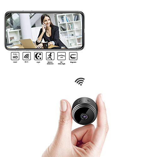 Spy Camera, Mini Wireless Hidden Camera, Hidden Security Camera with Loop Recording Perfect, HD 1080P Portable Micro Camera with Motion Detectand Night Vision for for Home Monitoring