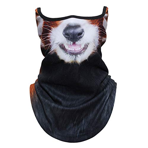 (AXBXCX Animal 3D Prints Neck Gaiter Warmer Half Face Mask Scarf Windproof Dust UV Sun Protection for Skiing Snowboarding Snowmobile Halloween Cosplay Red Panda Funny)