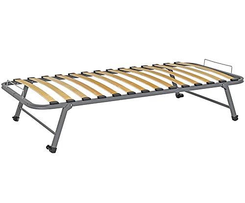 Somier de cama nido, metal, gris, 90x200