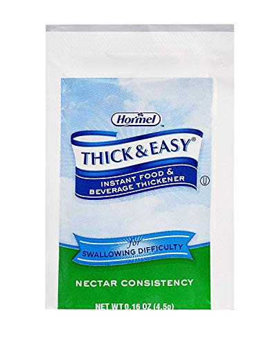 Thick & Easy Instant Food & Beverage Thickener, Nectar Consistency, 4.5 Grams (Pack of - Thickener Nectar
