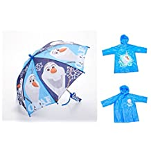 Disney Frozen Olaf Childrens 2 Piece Umbrella Rain Poncho Set - Large 6/7