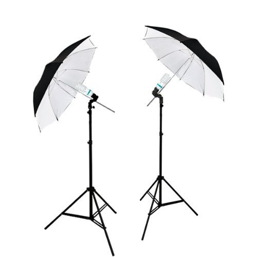 LimoStudio 2 Photography Studio Continuous Lighting Kits W/ 2 Complimentary Daylight CFL Lights and Umbrellas for Product, Portrait, and Video Shoot, AGG1740