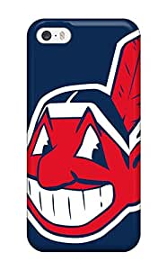 Iphone 5/5s Hard Back With Bumper Silicone Gel Tpu Case Cover Cleveland Indians